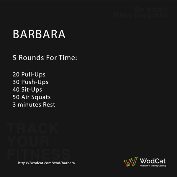 CROSSFIT WOD Barbara