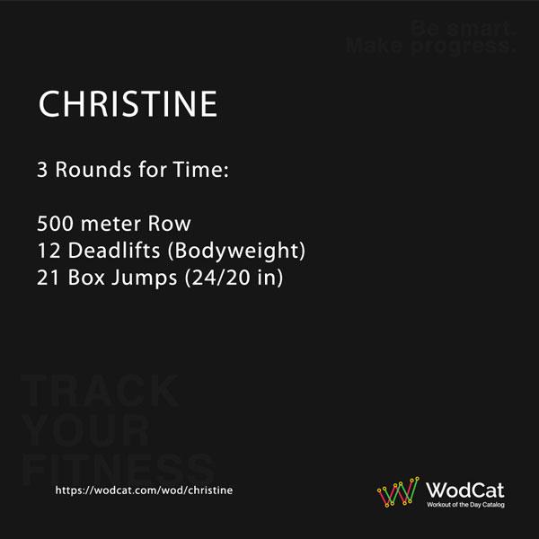 CROSSFIT WOD Christine