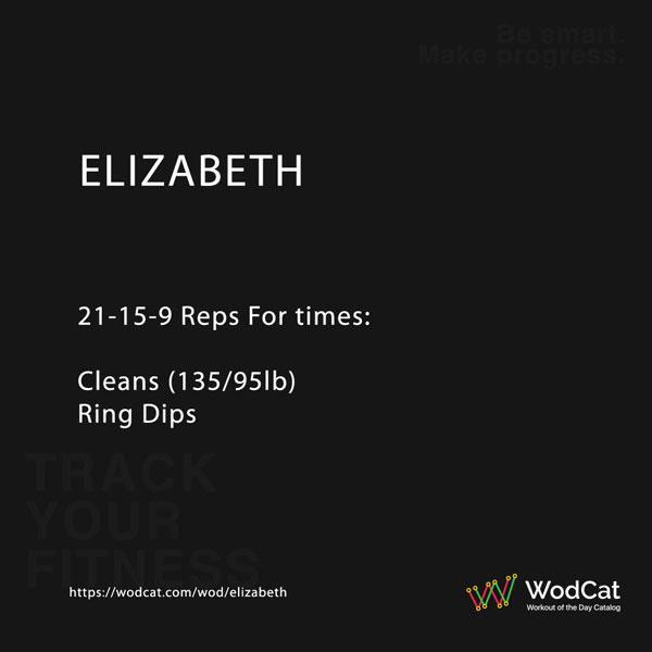 CROSSFIT WOD Elizabeth