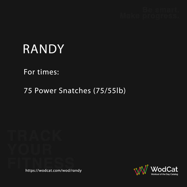 CROSSFIT WOD RANDY